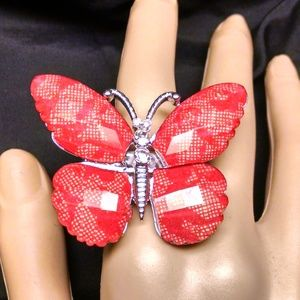 Butterfly Sexy Stylish Fashion Large Cocktail Ring